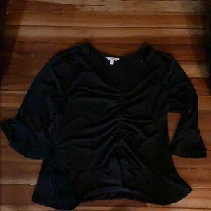 NWOT CANDIES BLACK DRESSY TOP